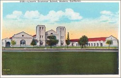Lincoln Grammar School, Madera, California Postcard