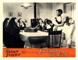 Lilies of the Field Lobby Card Starring Sidney Poitier - 1963