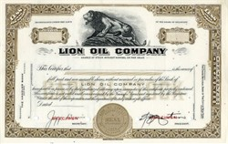 Lion Oil Company ( Early Monsanto Company ) - Lion Vignette
