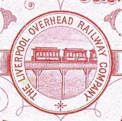 Liverpool England Overhead Railway Company 1890's