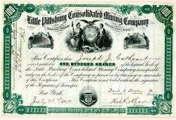 Little Pittsburgh Consolidated Mining Company - Leadville, Colorado 1880