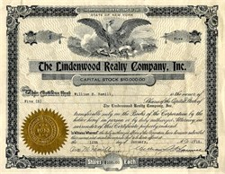 Lindenwood Realty Company, Inc. - New York 1915