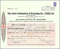 Lister Antiseptics & Dressings Company 1944 - Listerine