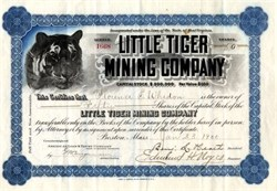 Little Tiger Mining Company - Yreka, Siskiyou County, California -  1900