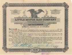 Little Motor Kar Company (Texmobile)   - Grand Prairie, Texas 1919