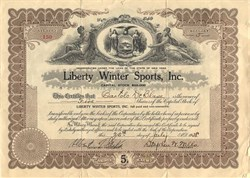 Liberty Winter Sports, Inc. -Walnut Mountain Ski Area - Liberty, New York 1938