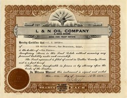 L & N Oil Company- Dallas, Texas 1920