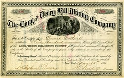 Long and Derry Hill Mining Company - New York. Leadville, Colorado 1881