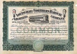 Louisville and Northern Railway and Lighting Company (signed By Samuel Insull As President)  - Indiana 1907