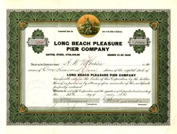 Long Beach Pleasure Pier Company (Operated Nu Pike) - California 1916