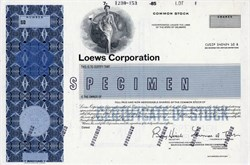 Loews Corporation (Lawrence Tisch as Chairman) - Delaware 1985
