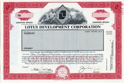 Lotus Development Corporation - Delaware 1987