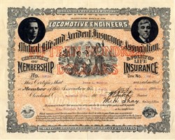 Mutual Life and Accident Insurance Association - Locomotive Engineers - 1910