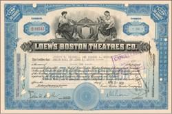 Loew's Boston Theatres Co. 1930