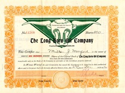 Long Horn Oil Company - Colorado 1920