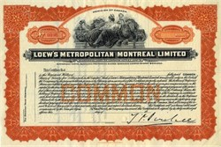 Loew's Metropolitan Montreal Limited - Dominion of Canada 1920