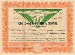Long Horn Oil Company - Colorado 1920