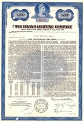 Long Island Lighting Company $5,000 Bond ( Now Long Island Power Authority ) - New York