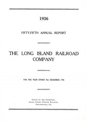 Long Island Rail Road Company Annual Report 1936