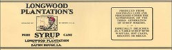 Longwood Plantation's Pure Syrup Label