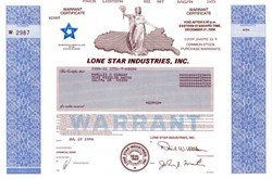 Lone Star Industries, Inc.