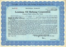 Louisiana Oil Refining Corporation - New York 1930