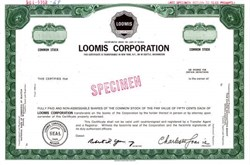 Loomis Corporation - Security Company 1968