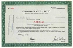 Lord Simcoe Hotel - Toronto