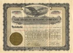Los Angeles Building Company - California 1913