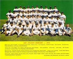 Los Angeles Dodgers Team Photo - 1974