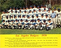 Los Angeles Dodgers Team Photo - 1970