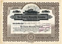 Los Angeles Steamship Company (Provided passenger service to Hawaii)  - California 1924