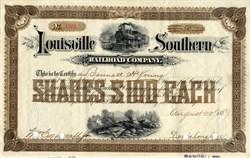 Louisville Southern Railroad Company - Kentucky 1889