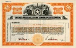 Lone Star Gas Corporation - 1937 Texas ( Now Enserch Corporation )