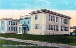 Lottie Grunsky Grammar School, Stockton, California Postcard