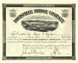 Louisville Bridge Company 1906 - Bridge Vignette
