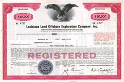 Louisiana Land Offshore Exploration Company - Convertible Debenture