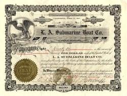L.A. Submarine Boat Company - California 1912
