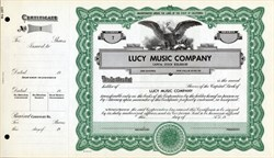 Lucille Ball and Gary Morton Stock Certificates - 1968