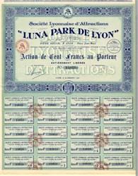 Luna Park De Lyon - France 1921