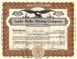 Lucky Strike Mining Company - Nevada 1929