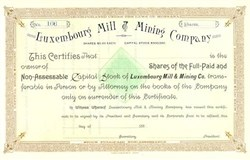 Luxembourg Mill & Mining Company 188_