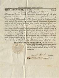 Lyons Rural Cemetery Association - Lyons, Wayne County, New York 1847
