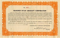 Mahoney - Ryan Aircraft Corporation - 1929