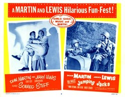 Jumping Jacks - A Martin and Lewis Hilarious Fun-Fest - Lobby Card Starring Dean Martin and Jerry Lewis