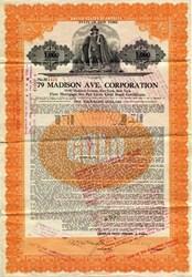 79 Madison Avenue Corporation ( Home of Pranna restaurant/lounge )  - New York 1925