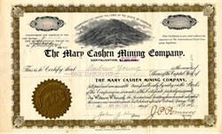 Mary Cashen Mining Company - Cripple Creek Mining District - Battle Mountain, Colorado 1902
