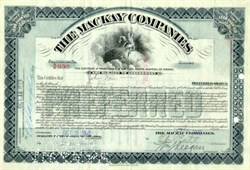 Mackay Companies (Early Telephone and Telegraph Company founded by John William Mackay ) - 1922