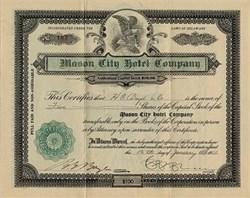 Mason City Hotel Company - Delaware 1922