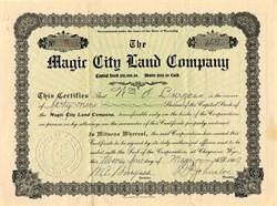 Magic City Land Company - Cheyenne, Wyoming 1909